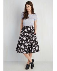 Hell Bunny London - Crush On Kawaii Skirt In Black - Lyst
