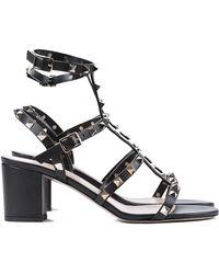 Valentino Studded High Heeled Sandal - Lyst