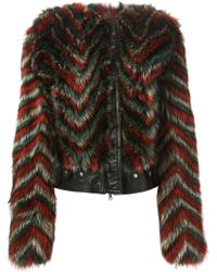 Givenchy Chevron Print Jacket - Lyst