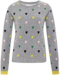 Chinti & Parker Multi Heart-Intarsia Cashmere Sweater - Lyst