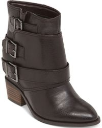 Jessica Simpson Teagan Moto Buckle Booties - Lyst