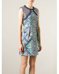 Matthew Williamson Embellished Printed Dress - Lyst