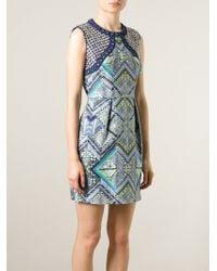 Matthew Williamson Embellished Printed Dress - Lyst