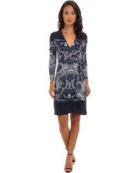 BCBGMAXAZRIA Adele Printed Wrap Dress Dgz68b83 - Lyst