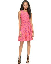 Issa Bay Fit and Flare Dress - Coral - Lyst