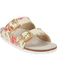 Birkenstock Floralprint Arizona Sandals - Lyst