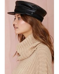 Nasty Gal Nona Leather Fisherman Hat - Lyst