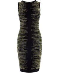 Karen Millen Space Dye Bandage Knit Dress - Lyst