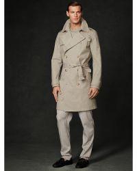 Ralph Lauren Purple Label Wool Brighton Trench Coat - Lyst