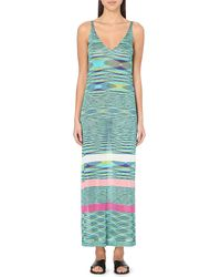 Missoni Fiammato Rigato Beach Dress - Lyst
