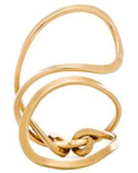 Mimi & Lu Dana Ring in Metallic Gold DBdoCWh