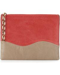 Lauren Merkin Winne Colorblock Leather Zip Pouch - Lyst