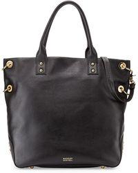 Badgley Mischka Victoria Pebbled Leather Tote Bag - Lyst