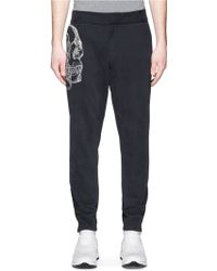 Alexander McQueen   Skull Sketch Embroidery Jogging Pants   Lyst