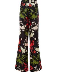 Peter Som Scattered Floral Silk Trousers - Lyst