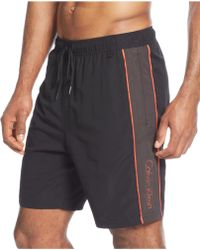 Calvin Klein Contrast Swim Trunks - Lyst