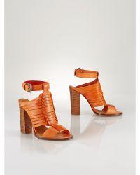 Polo Ralph Lauren Leather Noa Sandal - Lyst