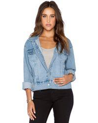 Cheap Monday Slouchy Denim Jacket blue - Lyst