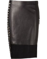 Anthony Vaccarello X Versus Versace High Low Skirt - Lyst