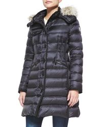Moncler Fur-trim Hooded Puffer Jacket - Lyst