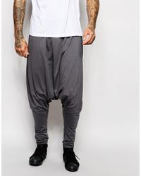 ASOS - Extreme Drop Crotch Joggers In Charcoal - Lyst