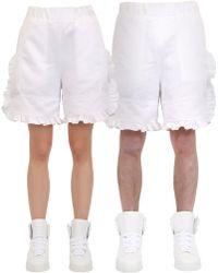 Nicopanda - Ruffled Satin Shorts - Lyst