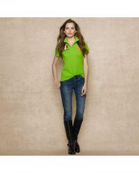 Ralph Lauren Blue Label - Cotton Mesh Flag Polo Shirt - Lyst