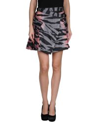 McQ by Alexander McQueen Gray Mini Skirt - Lyst