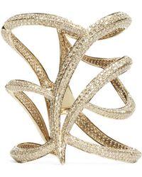 Maiyet Diamond Owl Cuff Bracelet - Lyst
