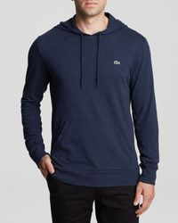 Lacoste Solid Hooded Long Sleeve Tee - Lyst
