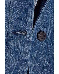 Sibling - - Printed Denim Jacket - Mid Denim - Lyst
