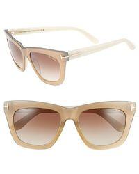 Tom Ford Women'S 'Celina' 55Mm Sunglasses - Ivory/ Pearl Gold/ Bronze - Lyst