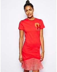 Ostwald Helgason Sweatshirt Dress with Frilled Hem - Lyst