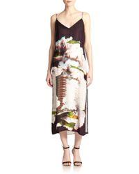 Rebecca Minkoff Martina Silk Printed Maxi Dress - Lyst