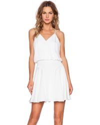 Milly Silk Crepe Tank Dress - Lyst