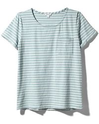 Splendid Indigo Dye Light Venice Stripe Tee - Lyst