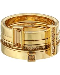 Michael Kors Brilliance Stackable Rings - Lyst