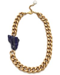 Gemma Redux - Offset Stone Necklace - Lyst