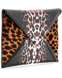 McQ by Alexander McQueen Printed Faux-Leather Textured Clutch - Lyst