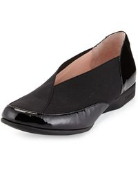 Taryn Rose Treva Patent Leather And Elastic Sport Loafer - Lyst