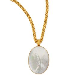 Dina Mackney - Mother-Of-Pearl Oval Pendant Necklace - Lyst