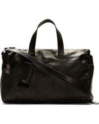 Marsèll - Black Leather Monouso Duffle Bag - Lyst