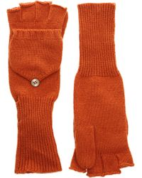 Barneys New York Green Convertible Mittens - Lyst