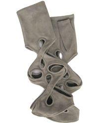 Thomasine Gloves | New York Mitaine Pleated Wrist Grey | Lyst