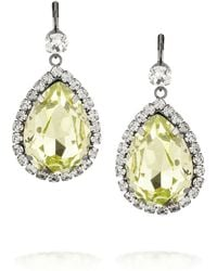 Kenneth Jay Lane Gunmetaltone Crystal Earrings - Lyst