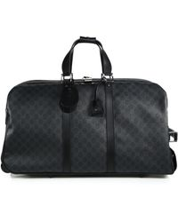 Gucci Gg Supreme Canvas Wheeled Suitcase - Lyst