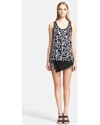 Proenza Schouler Print Layered Jersey Tank Dress - Lyst