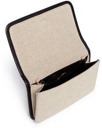 Pierre Hardy 'Alpha' Mini Leather Trim Canvas Shoulder Bag multicolor - Lyst