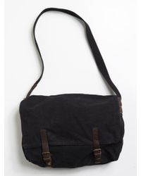 Alternative Apparel - Bucharest Canvas and Leather Messenger Bag - Lyst