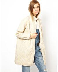 Ganni - Calcutta Quilted Jacket - Lyst